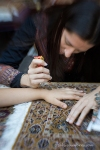 Handholding, focusing on hands.