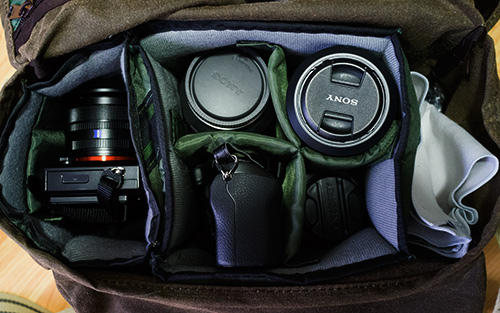 Carrying the NEX-7, Tripod and lights  by Alfred Forns